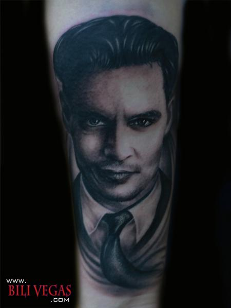 Bili Vegas - email. Placement: Arm Comments: Johnny DEpp as John Dillinger