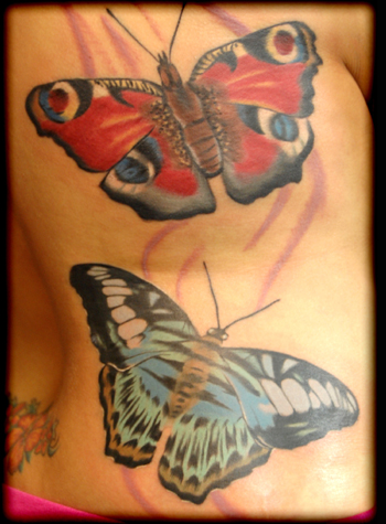 Butterflys by memphis tattoonow for Cedar springs tattoo