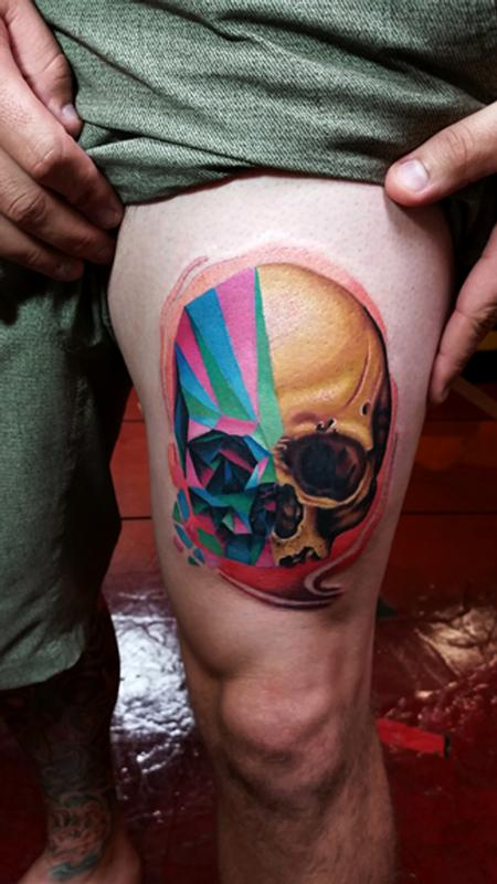 shard skull Tattoo Design Thumbnail