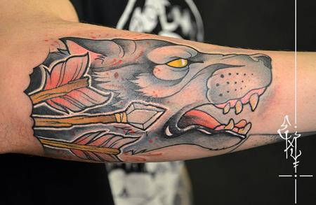 Tattoos - Wolf - 126355