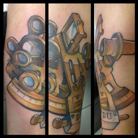Nautical sextant Tattoo Design Thumbnail