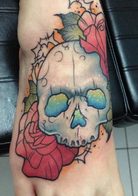 Girly skull Tattoo Design Thumbnail
