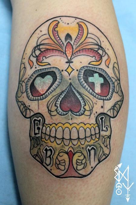 Tattoos - Mexican skull - 99710
