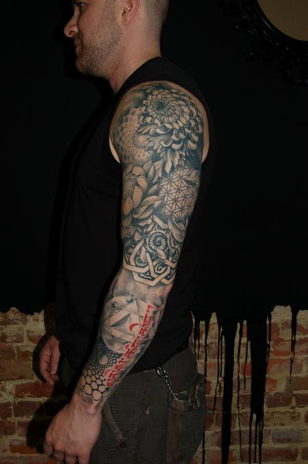 Tattoos - Sacred geometry sleeve - 63373