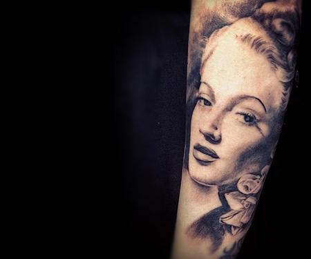 Lana Turner Tattoo Design