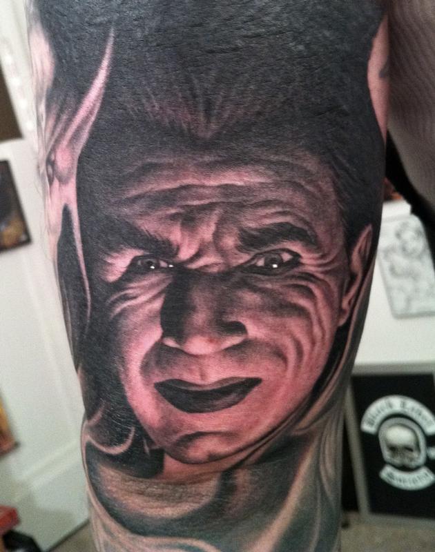 Bela Lugosi by Bob Tyrrell : Tattoos