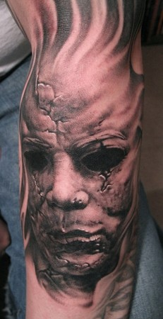 Michael myers by bob tyrrell tattoos for Michael myers tattoo
