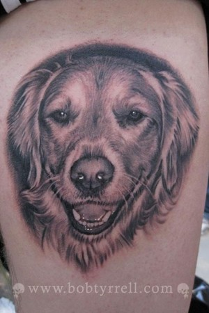 Bob Tyrrell - Dog Portrait Tattoo