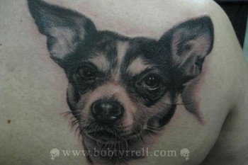Tattoos - Dog Portrait Tattoo - 34614