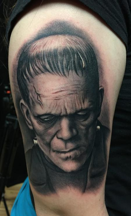 Bob Tyrrell - Frankenstein Portrait Tattoo