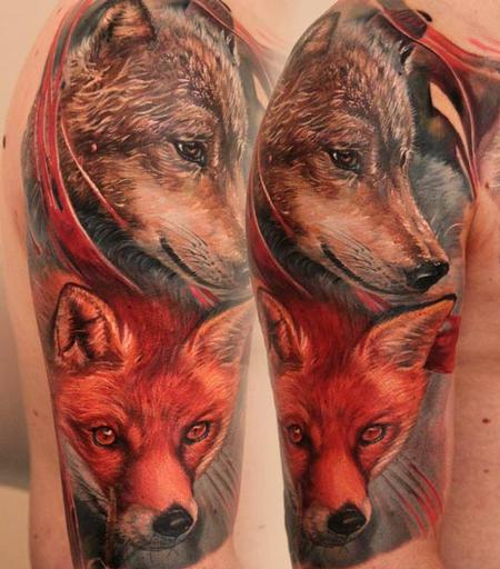 Tattoos - Color Fox Tattoo - 109348