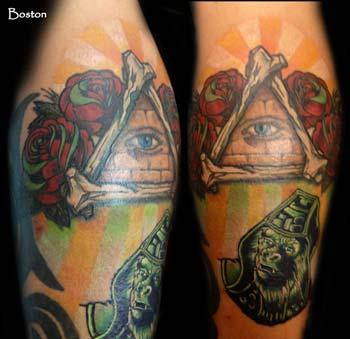 Tattoos - All Seeing Eye and General Urko color tattoo - 70100
