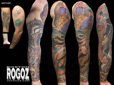 Tattoos - Phoenix sleeve - 111372