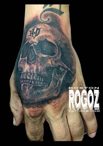 HD hand skull tattoo Tattoo Design Thumbnail