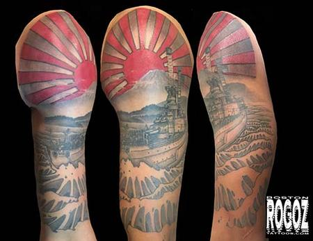 Boston Rogoz - Battleship half sleeve