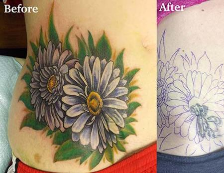 Tattoos - Daisy coverup - 87526