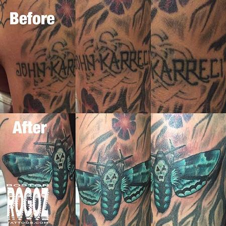 Tattoos - Death moth coverup tattoo - 119628