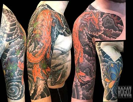 Tattoos - Japanese fox sleeve - 127250