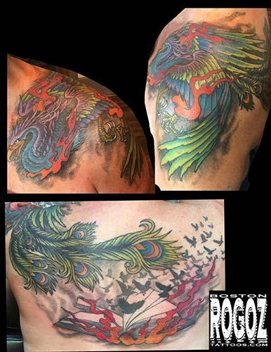Phoenix rising tattoo Design Thumbnail