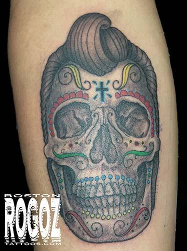 Tattoos - greaser sugar skull - 119642