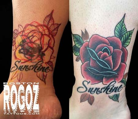 Tattoos - rose coverup - 119646