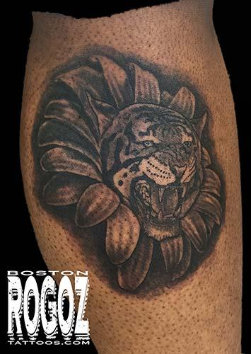 Tattoos - tiger/flower morph - 119656