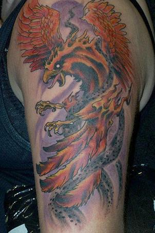 Tattoo Gathering : Tattoos : Ben Thiesen : Full Color Phoenix Tattoo