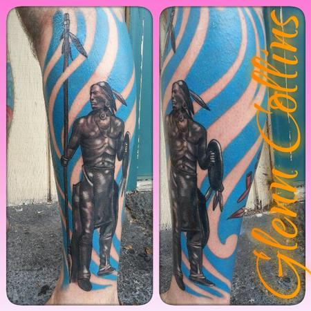 Tattoos - custom color half leg sleeve - 99600
