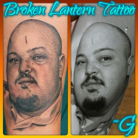 Tattoos - black and grey portrait tattoo - 98794