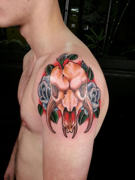 Tattoos - mythosaur skull  - 100981