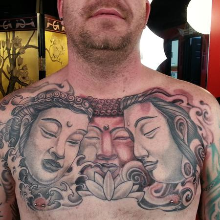 Tattoos - Black and grey buddha tattoo - 98318