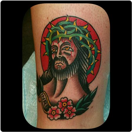 Traditional Jesus Tattoo Tattoo Design Thumbnail