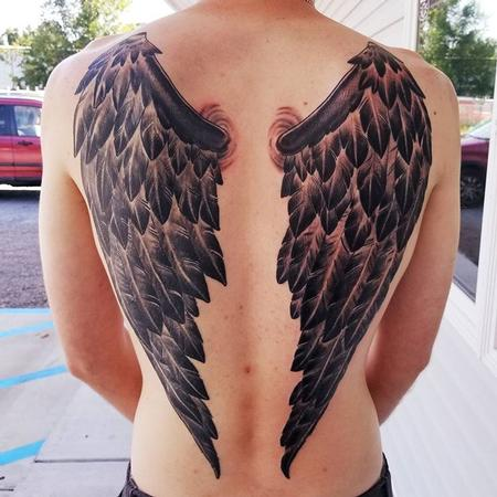 Tattoos - Fallen Angel Wings - 129985