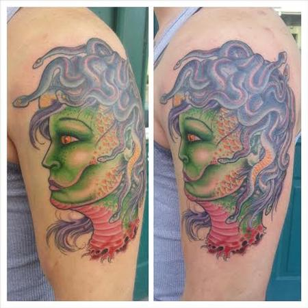 Tattoos - Medusa head on arm  - 100452