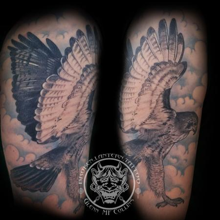 Red Tailed Hawk Tattoo Design Thumbnail