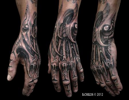 Biomech Hand Tattoo Design Thumbnail