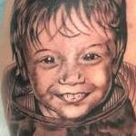 Black and Grey Portrait  Tattoo Design Thumbnail