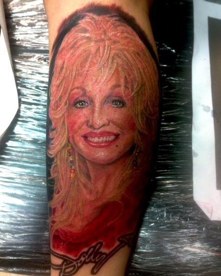 Tattoos - Dolly Parton Portrait - 78543
