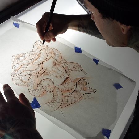 Chad Miskimon - Stencil Drawing of Medusa