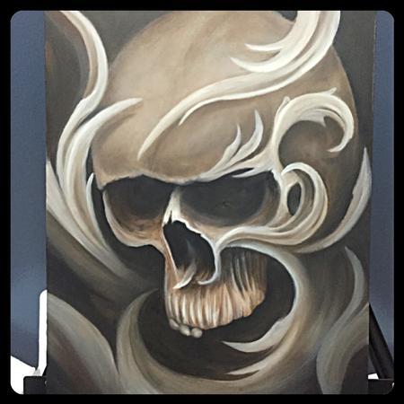 Chad Miskimon - Filigree Skull Painting