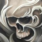 Tattoos - Filigree skull - 104049