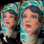 Tattoos - Flapper Girl (Color) - 122390