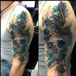 Tattoos - Skull & Crow - 122429
