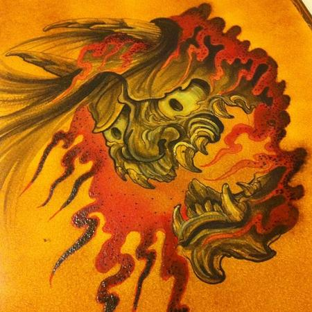 Tattoos - hannya watercolor flash  - 82833