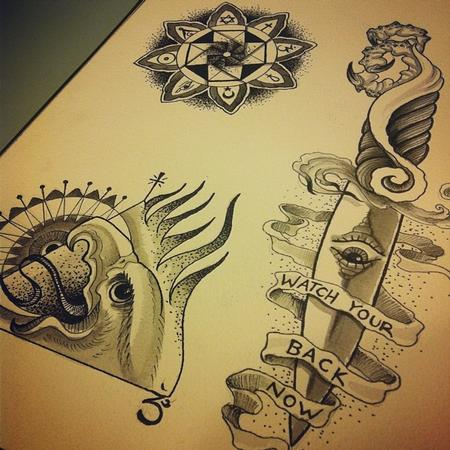 Tattoos - religion flash sheet - 82834