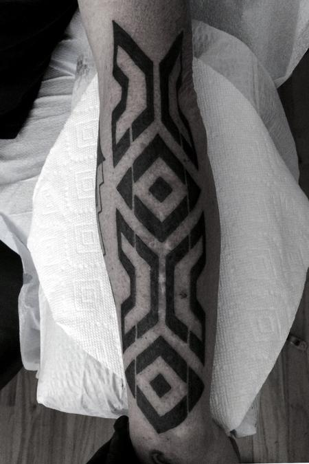 Tattoos - Black work with native influence - 99777