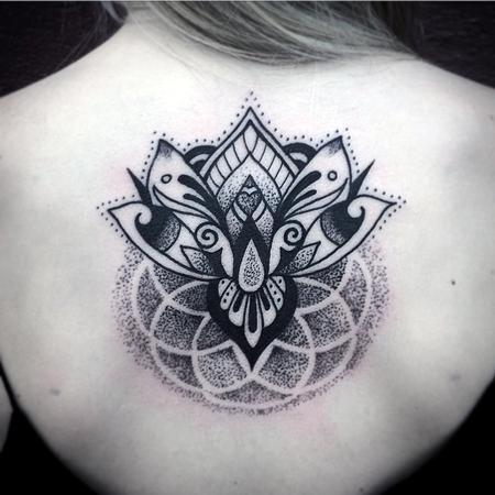 Tattoos - Lotus Inspired dotwork and geometric  - 99771