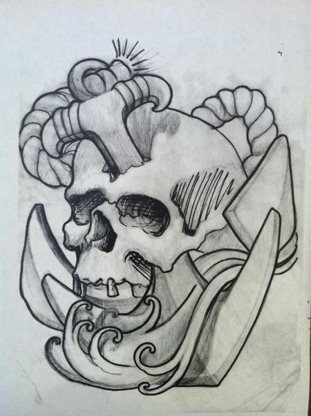 Tattoos - Davey Jones Skull - 68050