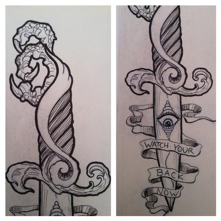 Tattoos - Dagger sketch - 69858
