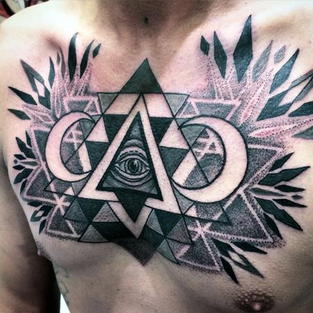 Canyon Webb - Sri Yantra All seeing eye chest piece
